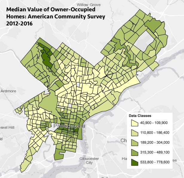 Median Home Value, Philadelphia