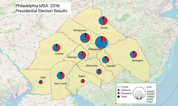 Philadelphia MSA 2016 Election Results