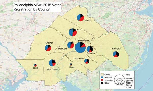 Philadelphia MSA Voter Registration by County